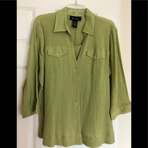 Denim & Company Green Top